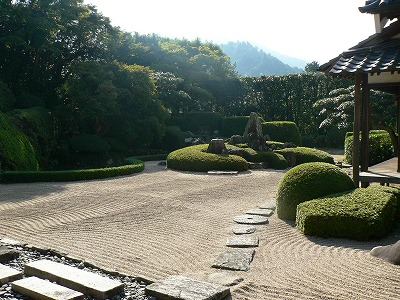 この日朝の庭園