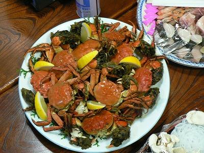 高梁の旬の味・もくず蟹