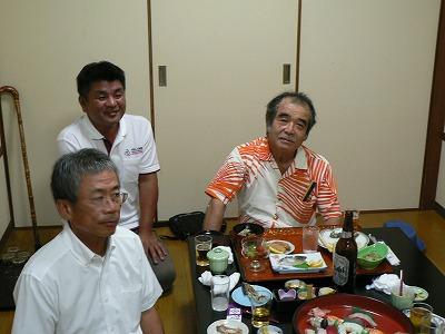 懇親会(松本実行委員長、商工会議所青年部平松会長、宮口先生