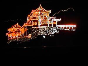 松山城のイルミネーション