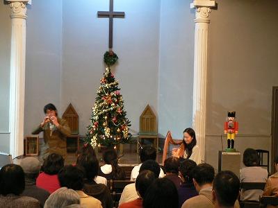 アイリッシュハープのharuさんとオカリナの秋田勇さん
