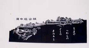 「手ぬぐい備中松山城」㈱柳屋染工場