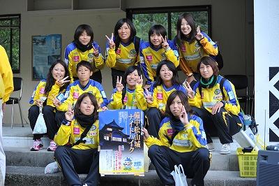 吉備国際大学女子サッカー部も参加