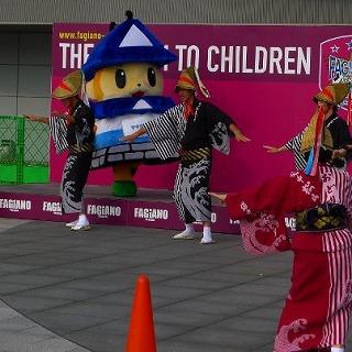 備中松山踊りPR(岡山市カンコースタジアム)