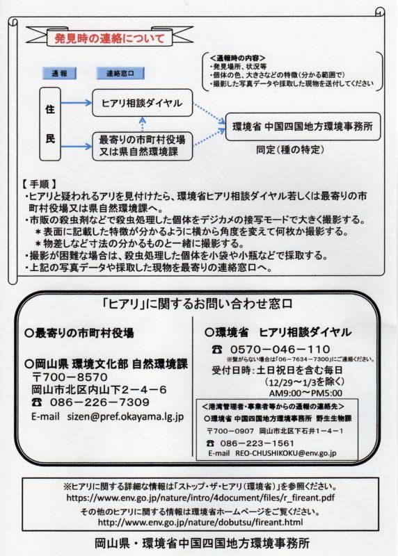 特定外来生物「ヒアリ」にご注意!(岡山県・環境省中国四国地方環境 ...